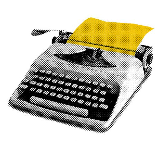 content marketing - typewriter